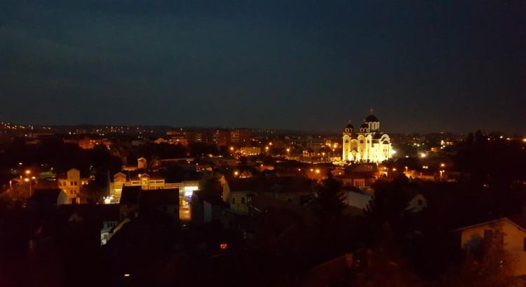 Valjevo at night.