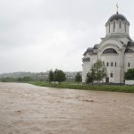 Cathedral of Resurrection during the 2014 flooding.