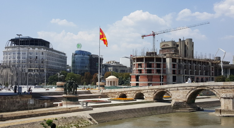 Macedonia Square under construction