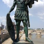 Statue of Alexander the Great on the Bridge of Civilizations