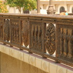 Detail on one of the main bridges spanning the Vardar